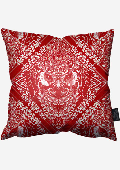 Red Owl Pillow