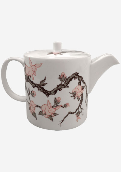 Bunny Blossom Large Teapot