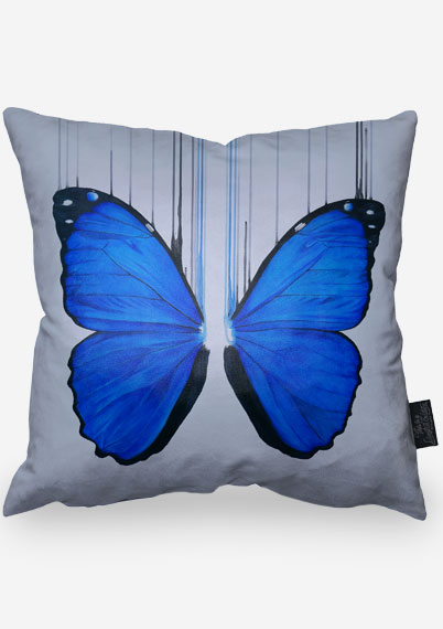 Blue Morpho Pillow