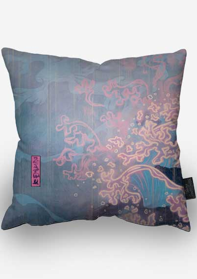 Megan and the Shizkesa Storm Pillow - Left