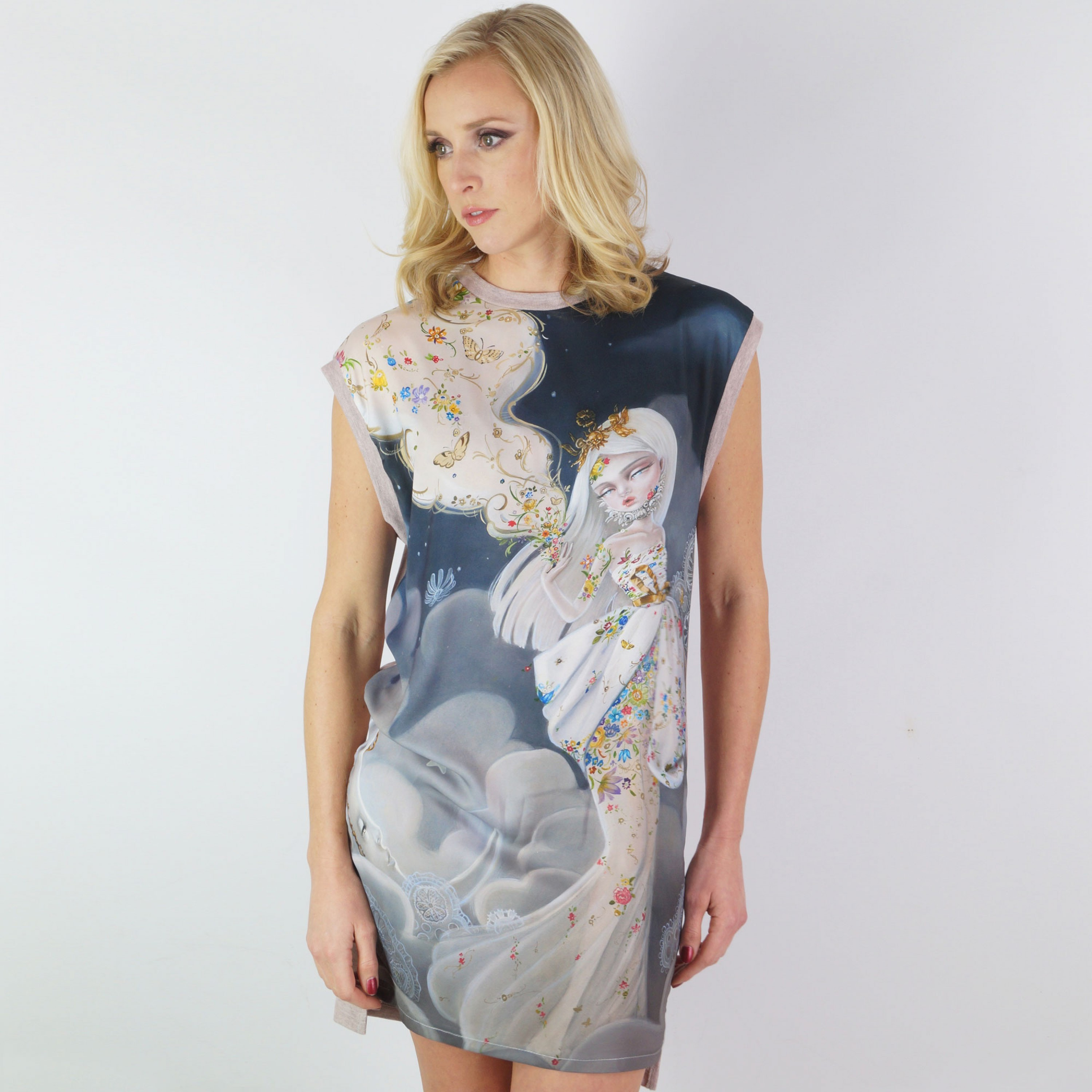 The Creators Satin Panel Dress
