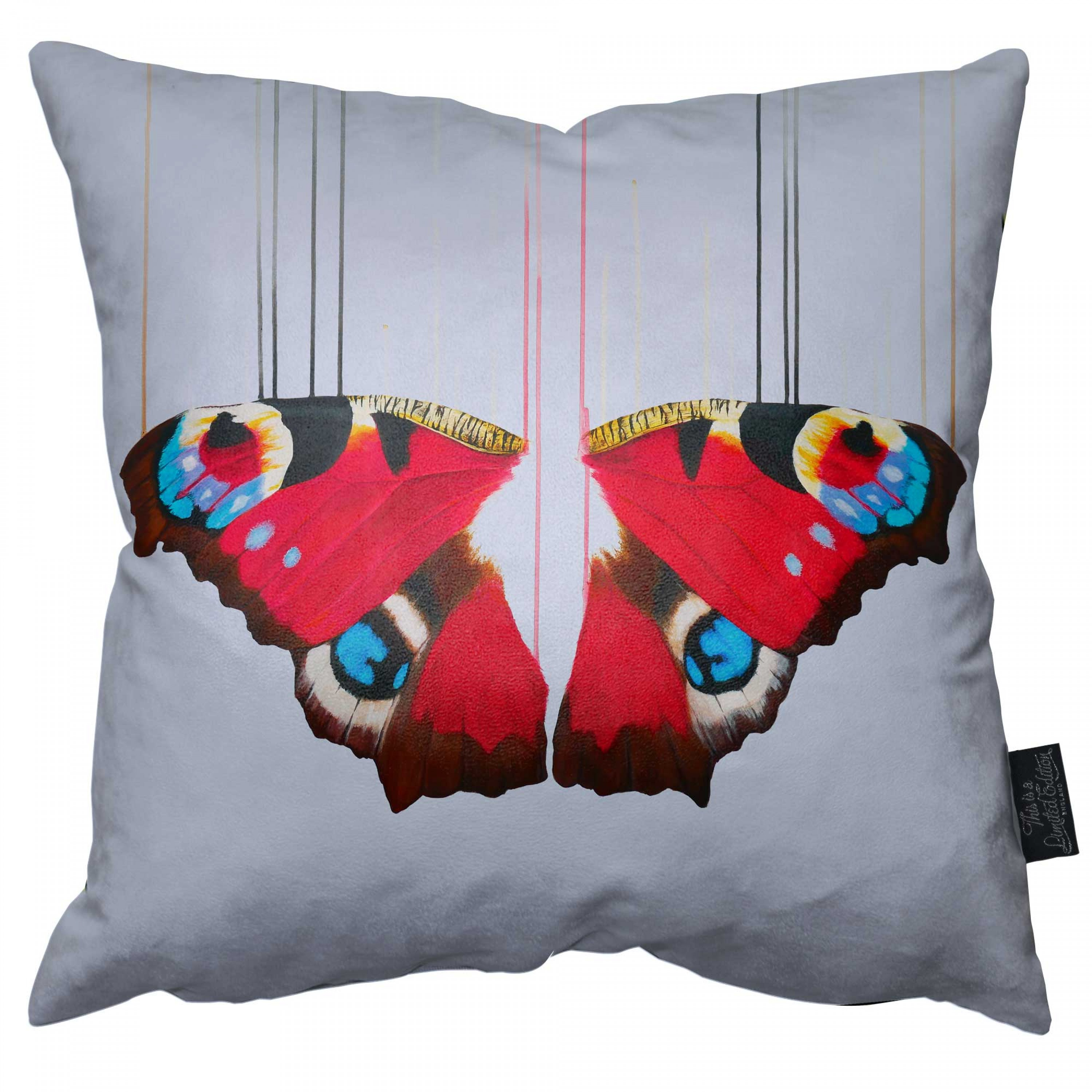 Peacock Butterfly Pillow