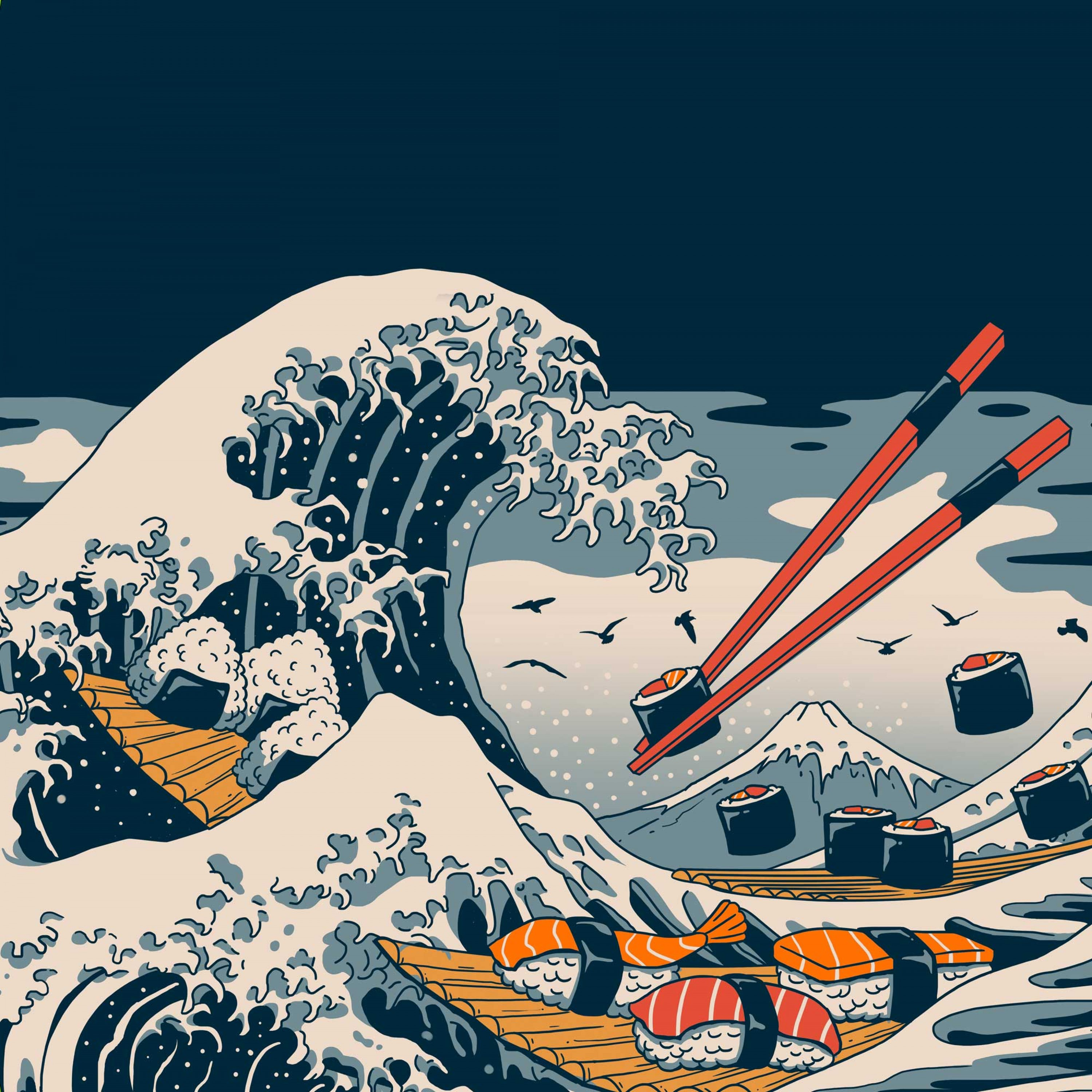 The Great Wave of Sushi